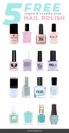 List Of 5 Free Vegan And Cruelty Nail Polish Brands