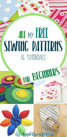 ALL the free sewing tutorials and patterns ever made by AppleGreen Cottage. Grab a cup of coffee, browse through and check them all out, they were made for you!