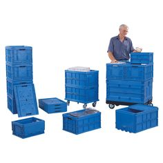 Re-Usable Folding Distribution Euro Containers