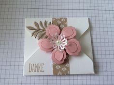 Danke Umschlag mit Blume