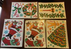Vintage Christmas Window Cling Sheets  by Fraservalleyjewels