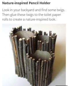 Up cycle- toilet paper towel roll idea: nature inspired pencil holder