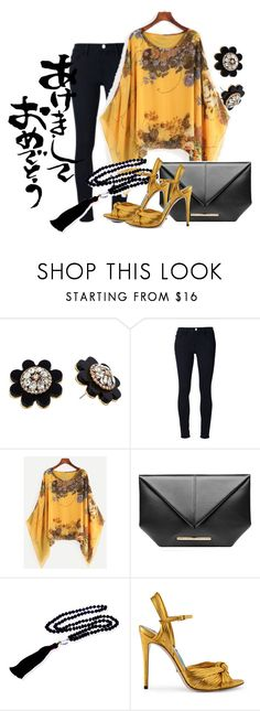 """""""Happy New Year"""" by marocaine-evazahourova ❤ liked on Polyvore featuring Kate Spade, Frame, WithChic, Roland Mouret, Elizabeth Raine and Gucci"""