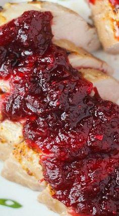 Pork Tenderloin with Chipotle-Cranberry Sauce