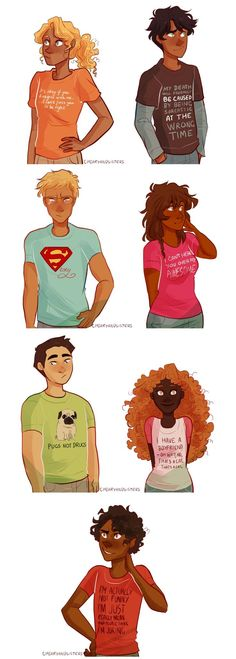 THOSE ARE TUMBLR QUOTES ON THEIR SHIRTS XD: