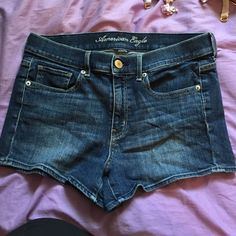 AE high waisted shorts! In great condition!! Stretchy material. Price is negotiable American Eagle Outfitters Shorts Jean Shorts