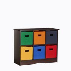 Kids Storage Cabinet w/ 6 Bins Toy Organizer Playroom Wood Composite Furniture Toy Storage Bench, Kids Storage, Storage Design, Storage Shelves, Locker Storage, Storage Ideas, Shelf, Playroom Storage, Lego Storage