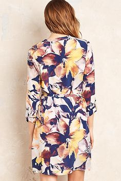 Ariane Silk Floral Shirt Dress