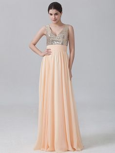 Pin to Win a Wedding Gown or 5 Bridesmaid Dresses! Simply pin your favorite dresses on www.forherandforhim.com to join the contest!   Chiffon Dress with Sequined Top $179.99