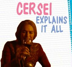 """Cersei from Game of Thrones (""""Never Marry a Mexican""""-sex as psychological power and manipulation)"""