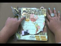 2013 CKC Destination Fun - Scrapbooking Your Travels - YouTube October Afternoon travel girl, AC Destination letters