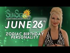 Cancer Zodiac Facts - 26th June Birthday Horoscope For 2015 - 2016 - YouTube
