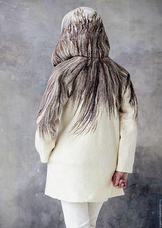 """Пиджаки, жакеты ручной работы. Жакет  """"Серым по белому..."""". Людмила. Интернет-магазин Ярмарка Мастеров. Ветви деревьев"""