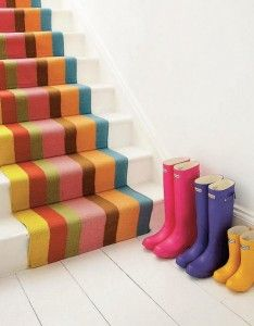 stripey stairs! (wouldn't mind the hunter wellies either!!)
