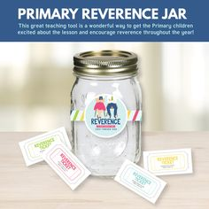 Primary Reverence Jar- I LOVE this idea! Perfect for Primary Sharing Time 2017: Reverence is Deep Respect and Love Toward God (July Week 3) - The Red Headed Hostess