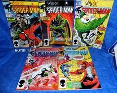Comic Books Vintage  5 Marvel WEB OF SPIDER-MAN  19,23,24,25, 27   C35 A7