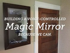 "a Voice-Controlled DIY Raspberry Pi Smart Mirror with Jasper This guide will show you how to make a smart, or ""magic"" mirror that runs on a Raspberry Pi.This guide will show you how to make a smart, or ""magic"" mirror that runs on a Raspberry Pi. Diy Tech, Cool Tech, Tech Tech, Smart Home Security, Home Security Systems, Projetos Raspberry Pi, Raspberry Projects, Lampe Retro, Diy"