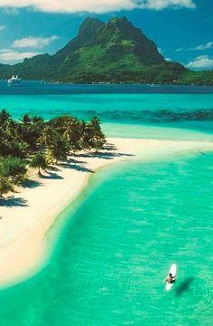 Beautiful Pearl Beach on Bora Bora in French Polynesia. More Bora Bora :) Dream Vacations, Vacation Spots, Funny Vacation, Romantic Vacations, Italy Vacation, Funny Travel, Summer Vacations, Romantic Getaways, Vacation Travel