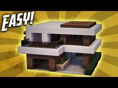 Minecraft: How To Build A Small Modern House Tutorial (#17) - YouTube