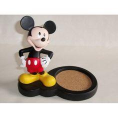 Disney Mickey Mouse Figural Mug Coaster Stand Holder For Desk