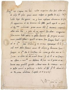 Baldassare Castiglione.  April 30, 1524. Untranslated letter written on the day of the Battle of Sesia to Capino da Capo, a soldier in the imperial service. Castiglione desires to have a defeat of King Francis I reported to him immediately, so that he can be the first to bring this good news to Pope Clement VII, who, at that time, was allied with Charles V.