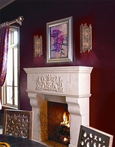 Geisha by Corbett Lighting Fireplace Tools, Home Fireplace, Traditional Fireplace, Traditional House, Wall Sconce Lighting, Wall Sconces, Mirrors, Wood Burning Insert, Corbett Lighting