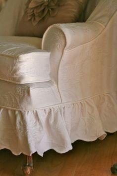 Custom Slipcovers by Shelley: Matelesse Bedspread Slipcover