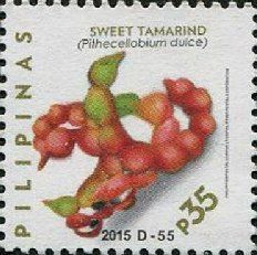Stamp: Sweet Tamarind (Pithecellobium dulce) Kamatsile (Philippines) (Fruits) Mi:PH 5042