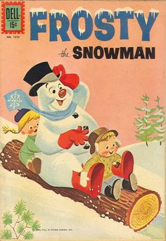 Comic book cover for Frosty the Snowman. Old Comic Books, Vintage Children's Books, Vintage Comics, Vintage Cards, Vintage Christmas Images, Retro Christmas, Vintage Holiday, Christmas Pictures, White Christmas