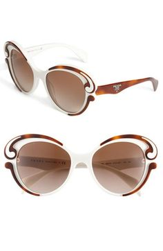 Prada 'Baroque' Cat's Eye Sunglasses    -- Get the latest eye wear fashions at https://designerframesoutlet.com/