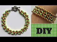 Bracelet Beading Tutorial - Simple Bead Patterns - YouTube