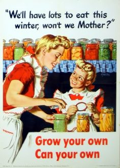 We'll Have Lots to Eat This Winter, 1943 - original vintage poster by A. Parker listed on AntikBar.co.uk