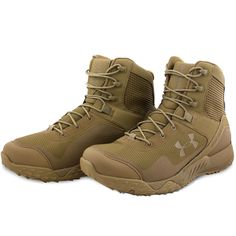 Under Armour Tactical Valsetz RTS Boots Military Lightweight Army Coyote Brown | eBay