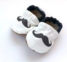 mustache baby shoes mustache shoes mustache door ScooterBooties, $24.00