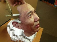 We 3D printed the face of the inventor of the Holobuild Scanning System on our ZPrinter 650.