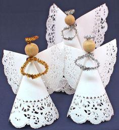 Christmas Angel Crafts, Creative Christmas Trees, Kids Christmas, Holiday Crafts, Christmas Gifts, Christmas Decorations, Christmas Ornaments, Christmas Poinsettia, Crochet Christmas
