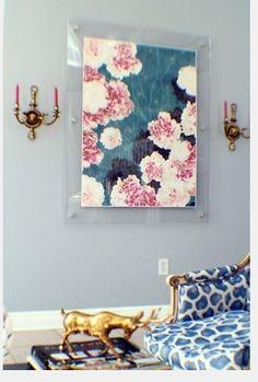 Blog from Lucinda Loya Interiors.  Display are in Plexiglass.