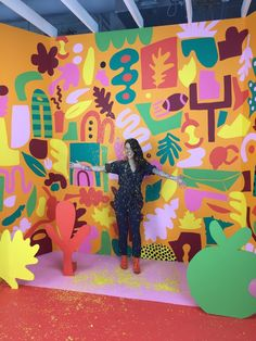 Murals — Ashley Mary Mural Wall Art, Mural Painting, Paintings, Posca Art, School Murals, Abstract Painters, Art Abstrait, Art Plastique, Paint Designs