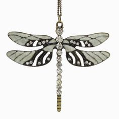 """2017 New Vintage Bronze Fashion Jewelry Dragonfly Pendant 30""""Long Necklace"""