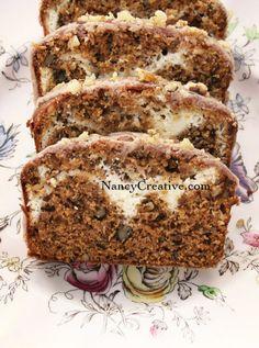 Pumpkin Cream Cheese Bread with Cinnamon Glaze Recipe ~ moist and delicious!