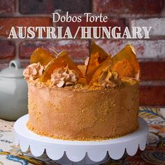 Check out this delicious treat from Austria/Hungary, your mouth will water! Check out this delicious treat from Austria/Hungary, your mouth will water! Food Cakes, Cupcake Cakes, Cupcakes, Dobos Torte Recipe, Delicious Desserts, Yummy Food, Fancy Desserts, Cake Recipes, Dessert Recipes