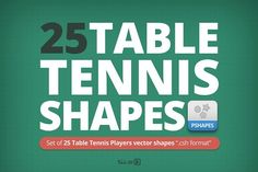 25 Table Tennis Players shapes by Makoto on @creativemarket