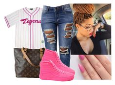 """"""".L"""" by deasia-still-thugin-honey ❤ liked on Polyvore featuring beauty and Louis Vuitton"""