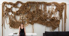 Susan Beallor-Snyder interview on textileartist.org: Manila rope sculpture