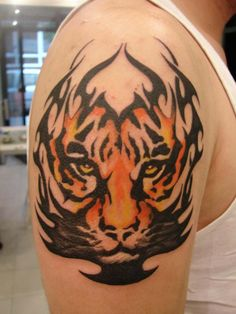 The Best Tribal Tiger Tattoo On Arm | Tattoo Photo | doti38 ...