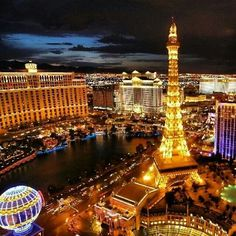 Las Vegas Strip-just to see the lights, a show or two & hotels/casinos with just a little gambling