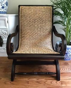 Classic Plantation Armchair. Hints at the simple elegance of Island living. See it at www.centuriavintage.com