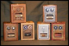 Robinson's Custom Woodworking specializes in handmade dovetailed post office box door banks. Made with original post office box doors from around the country. Banks are crafted from both domestic Pennsylvania woods and exotic woods from around the world. Great gift idea for Dad!