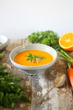 Nutrition Stripped | Carrot Orange and Ginger Soup | http://nutritionstripped.com
