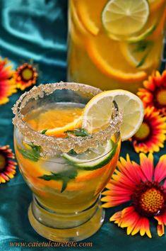 Limonada de citrice - CAIETUL CU RETETE Punch Bowls, Cook, Recipes, Plant
